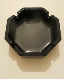 Black Glass Ashtray Made In France
