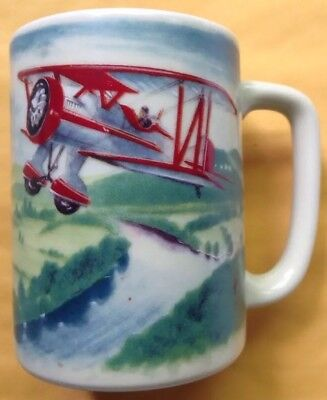 Used, 1970s 1980s WACO BIPLANE AIRPLANE COFFEE MUG, AIRPLANE, AVIATION, OTAGIRI JAPAN for sale  Shipping to Canada