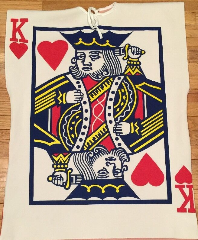 King of Hearts ❤️ Card Costume - 🎃 Halloween Sensation - Adult Size Fun Easy