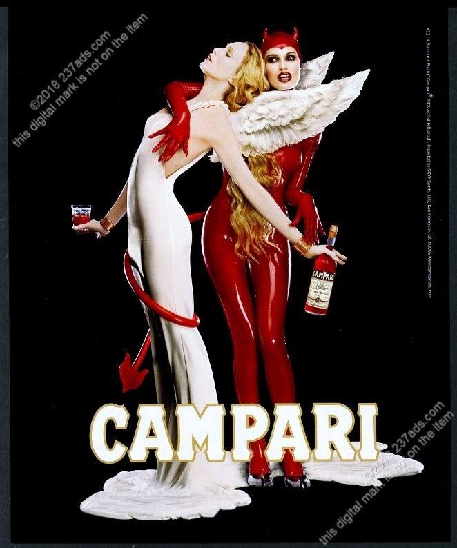 2006 Campari Devil Angel women photo vintage print ad