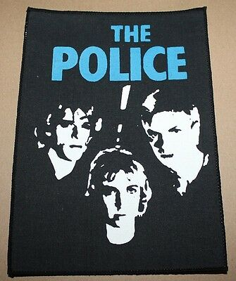 The Police, Band, small printed Backpatch, Vintage 70's / 80's, rar, rare gebraucht kaufen  Heimbach