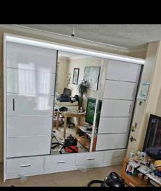🔥⭐ STYLISH NEW 2 AND 3 DOORS SLIDING WARDROBE WITH FULL MIRRORS, BOOK