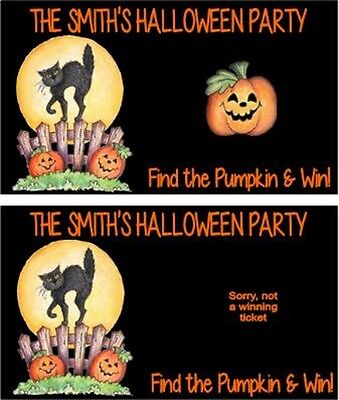 Halloween Scratch Off Tickets (Halloween Black Cat Party Scratch Off Tickets Game Cards Favors)