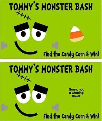 Halloween Scratch Off Tickets (Halloween Frankenstein Party Scratch Off Tickets Game Cards Favors)