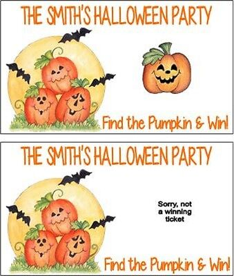 Halloween Pumpkins Party Scratch Off Tickets Game Cards Favors Personalized](Pumpkins Halloween Game)
