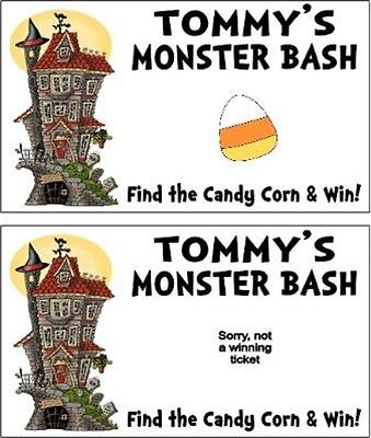 Halloween Scratch Off Tickets (Halloween Monster Mash Party Scratch Off Tickets Game Cards Favors)