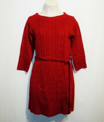 Sz XLG, LG My Michelle Girls Deep Red Sweater Dress Holiday Pageant Wedding NEW - My Girl Communion Dresses