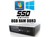 HP PC, 120GB SSD, 8GB Ram DDR3,AMD 3.0GHz, Minecraft