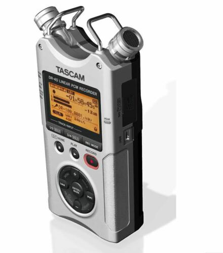 TASCAM DR-40 4-Track Portable Digital Recorder-SILVER