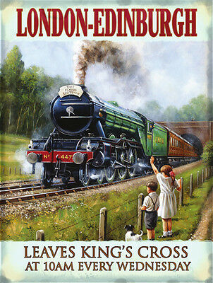 Flying Metal Sign (LNER Flying Scotsman Metal Wall Sign (3 sizes - Small / Large and Jumbo))