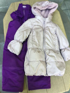 Baby Gap winter coat and snow pants, size 4