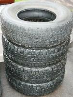 4 Studded Firestone Winterforce UV Tires Size 245/75R16
