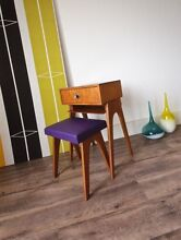 Retro Vintage Side Table & Matching Stool, 60's Parker Bedside Hurlstone Park Canterbury Area Preview