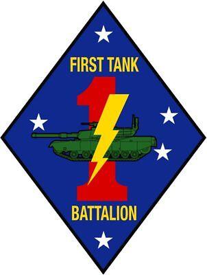 1st Marine Tank Battalion (US Marine Corps 1st First Tank Battalion USMC 4