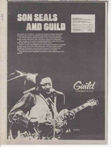 SON SEALS : Guild - NEWSPAPER ADVERT 1980
