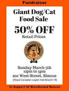 Giant Dog and Cat Food Sale