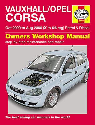 Vauxhall Opel Corsa 1.0 1.2 1.4 Petrol 1.3 1.7 Diesel 00-06 Haynes Manual