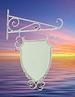 Reklame Schild Geschäft Wappen Ausleger antike Vintage Nostalgie Deko Metall