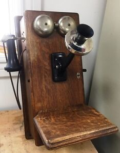 Antique Northern Electric wall Telephone phone