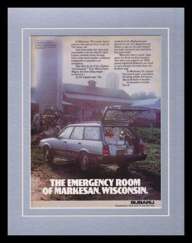 1987 Subaru 4WD Framed 11x14 ORIGINAL Vintage Advertisement