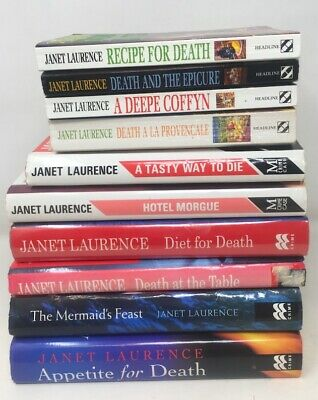 10 x Janet Laurence Darina Lisle Culinary Mysteries Complete Series