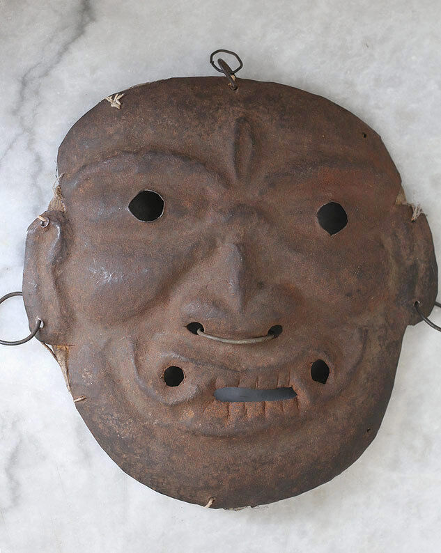 Superb rare antique NEPAL iron mask, demon