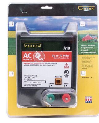 Zareba A10 Electric Fencing Fence 105-125 Vac 5060 Hz 10-mile Livestock Usa