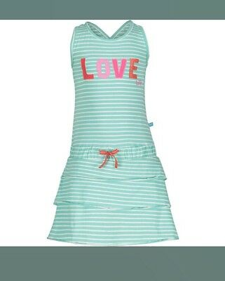 Girls Lief Lifestyle Light Blue White Striped Ruffle Cotton Dress For 5 Year Old (Light Blue Dresses For Girls)