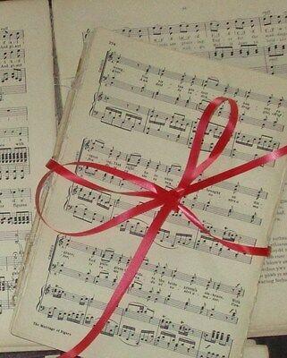 100 Sheets Vintage Music Paper Scores: Crafts Art Decoupage Cards Weddings