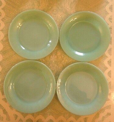 "Vintage Jadite Fire King 9"" Dinner Plates Set Of Four Restaurant Ware"