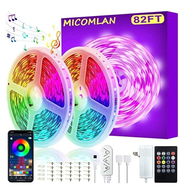 82Ft/25m LED Strip Lights, Micomlan Music Sync Color Changin