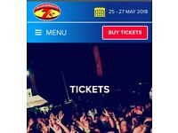 4 BOURNEMOUTH 7s WEEKEND CAMPING TICKETS