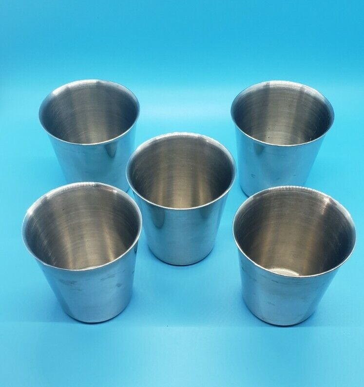 Polar Ware 18-8 Stainless Cups T21070 Lot of 5