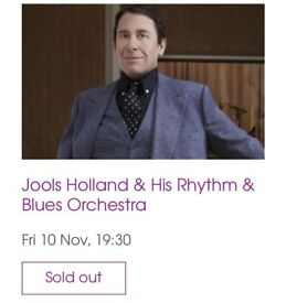 3X Jools Holland Tickets for sale