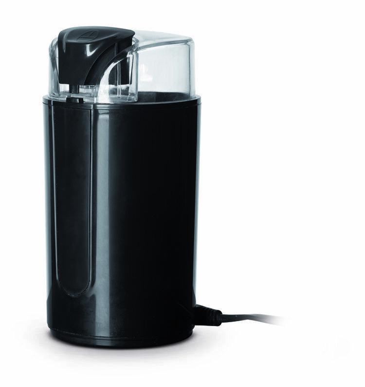 Macinacaffè elettrico design nero opaco 200W  con diverse modalità di macinatura