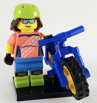 NEW LEGO COLLECTIBLE MINIFIGURE SERIES 19 GIRL WITH MOUNTAIN BIKE # 16