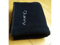 Great condition - Quinny black fleece blanket