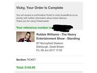 2 x Robbie Williams tickets