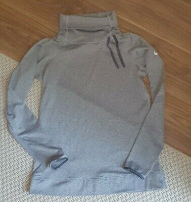 Ladies Nike Pro Dri-Fit Grey Running /  Workout Jumper Top Size Large