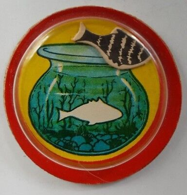 1957 Vintage Premium Cracker Jack Prize Toy Fish in a Bowl Magic Puzzle    (Magic Fish Bowl)