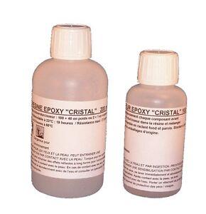 Kit de 300ml de r sine epoxy cristal pour inclusion ou coul e ebay - Resine epoxy cristal ...
