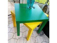 Ikea coloured kids tables