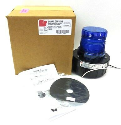 Federal Signal Corporation Horn Strobe Av1-120b 120 Vac Blue Series A