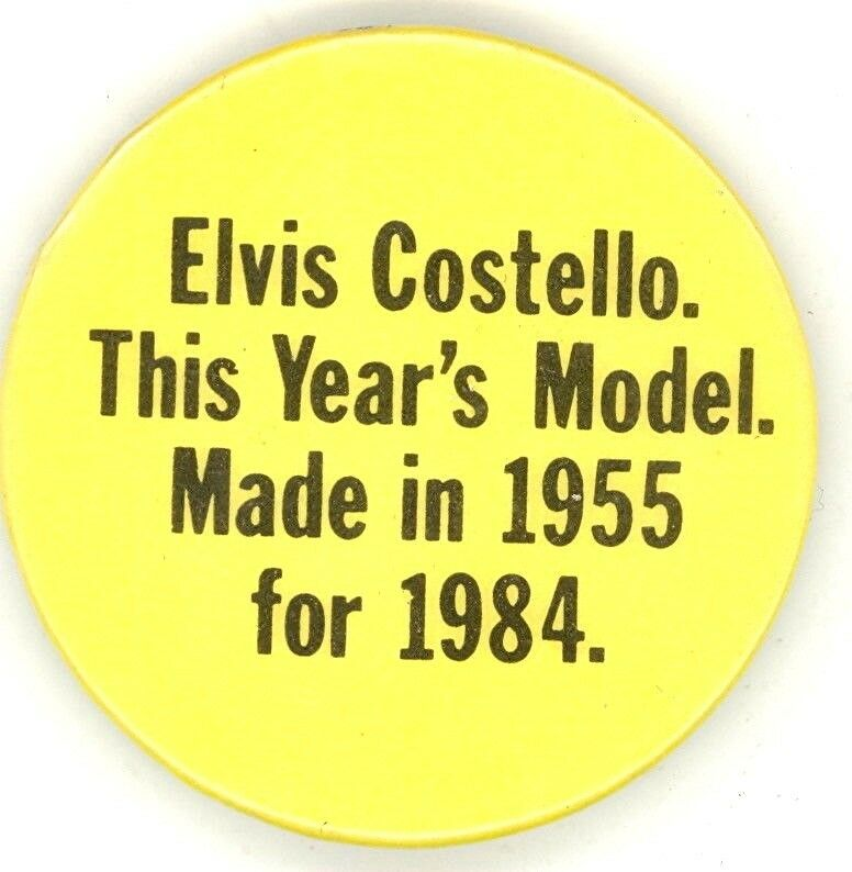 Elvis Costello Rare U.K Original 1978 This Year s Model Special Prize Button Pin - $79.99