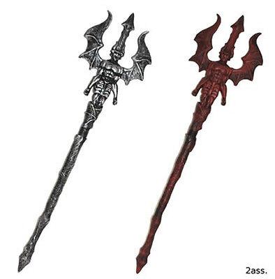 Dämonen Axt in silber oder rot Teufel Halloween - Teufel Kostüm Zubehör