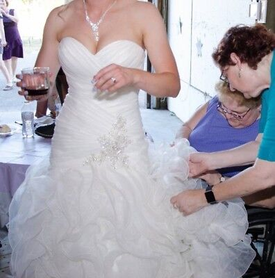 Allure Bridal #8915 Wedding Gown, Size 8 (Preserved-New Again!) 5 FREE ITEMS! =) (Used Wedding Items)