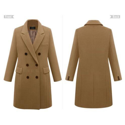 Women Big Lapel Callar Long Coat Belt Parkas Winter Warm Jacket Overcoat Outwear