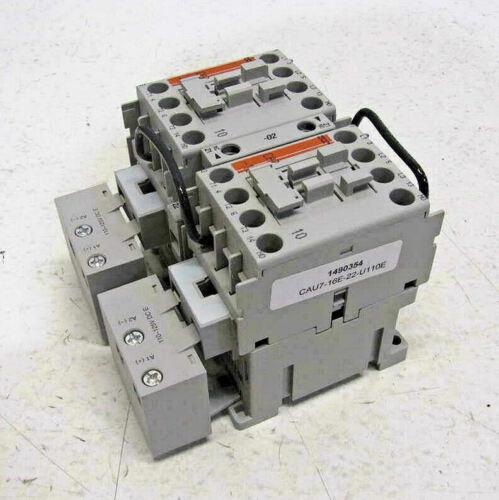 Sprecher + Schuh CAU7-16E-22-U110E-JWSS-21 Reversing Contactor Three Pole