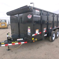 7' x 14' DUMP TRAILERS FOR RENT!