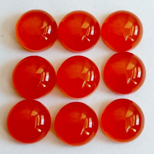Wholesale Lot of 13mm Round Cabochon Natural Carnelian Loose Calibrated Gemstone
